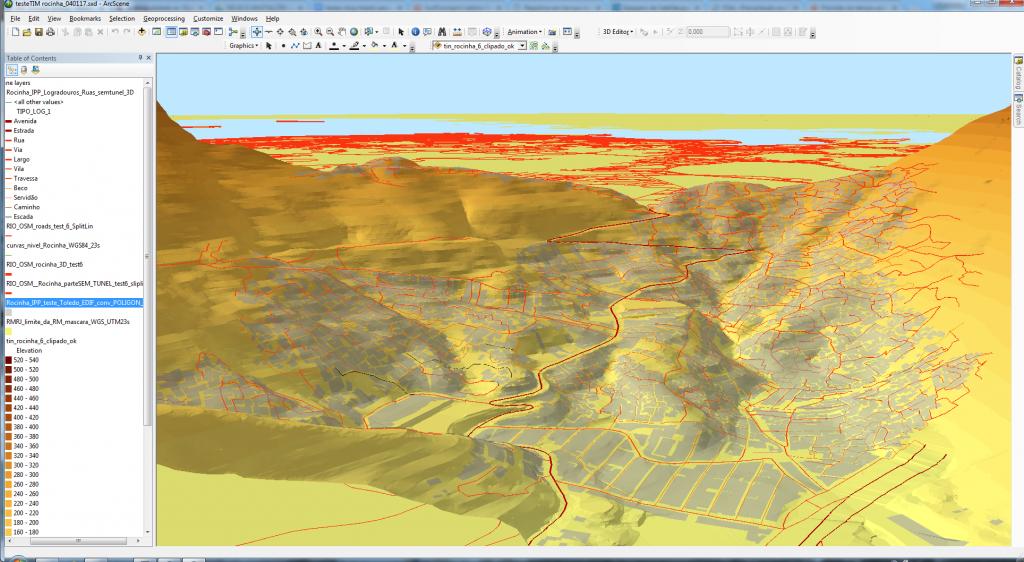 ruas 3D completa Rocinha